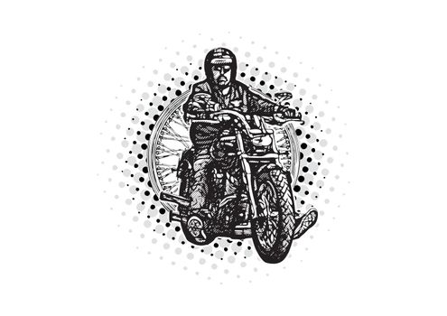 moto rider vector illustration