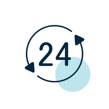 Service twenty four hours vector icon