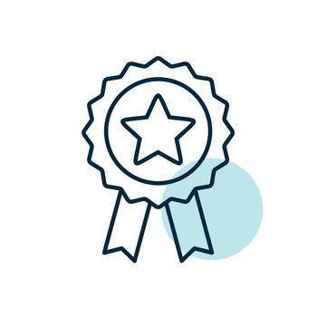 Ribbon award best seller icon