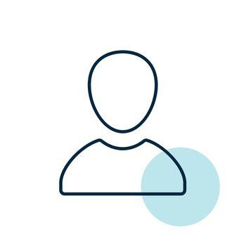 User vector icon. E-commerce sign
