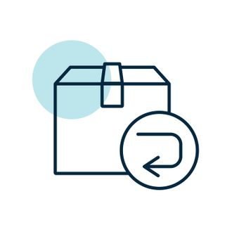 Return purchase vector flat icon