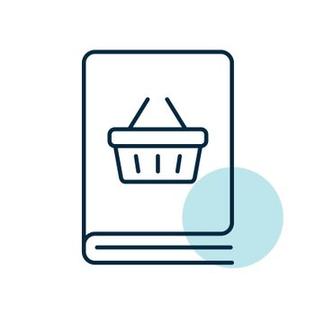 Catalog product vector flat icon