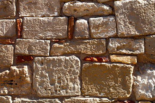 Antique brick wall texture grunge background.