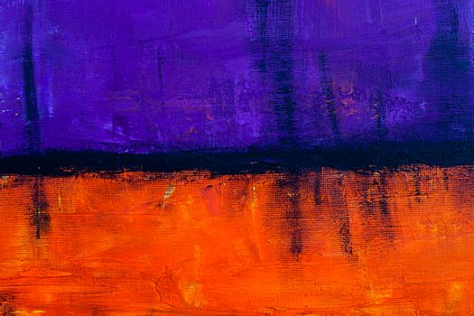 Purple and orange grunge colored texture background. Decorative painting.