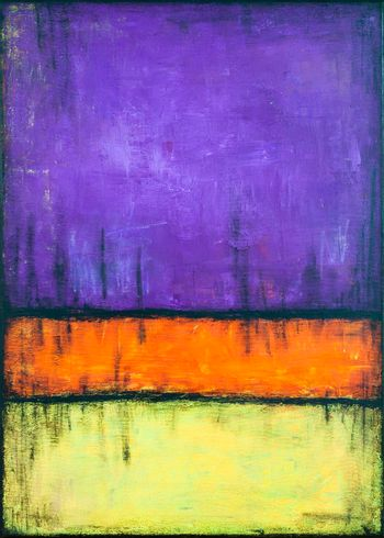 Purple, orange and yellow grunge colored texture background. Decorative painting.