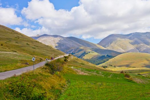 National Park of the Sibillini Mountains. Italy.