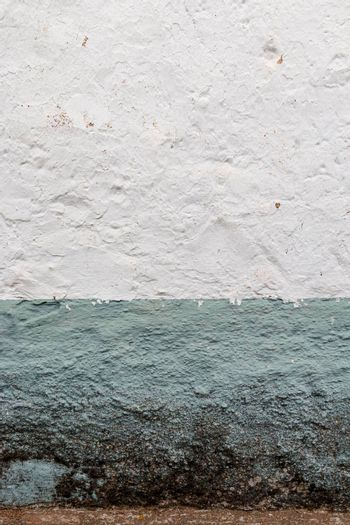 Painted stone walls in Andalusia southern Spain