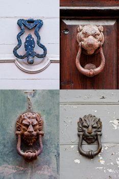 Italian door knockers and handles collection.
