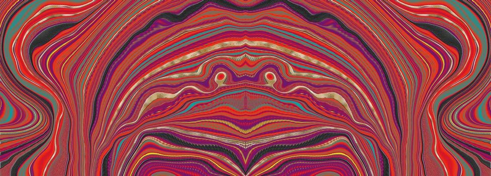 abstract material textile texture. Liquid dynamic red gradient waves. Digital background with different bright vivid colors in dynamic composition. Fluid texture. Illustration