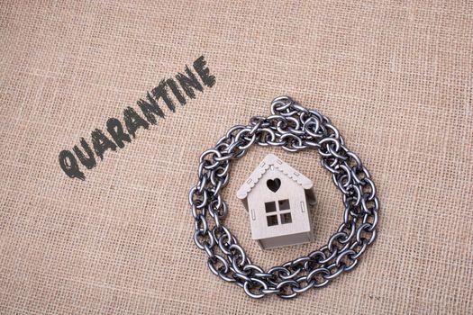 Coronavirus pandemy warning. Stay home on quarantine. Covid-19 epidemy.
