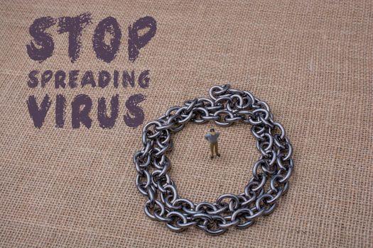 Corona Virus risk alert poter. Stop Corona Virus Global Spread