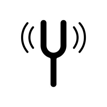 Tuning fork vector flat glyph icon