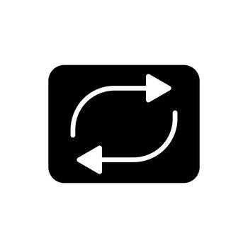 Repeat button vector flat glyph icon