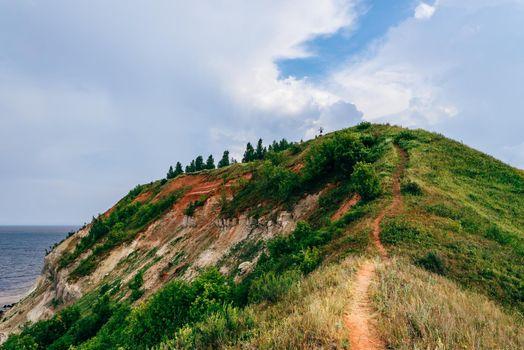 Hiking trail on mountainside