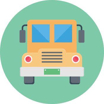 bus vector colour flat icon