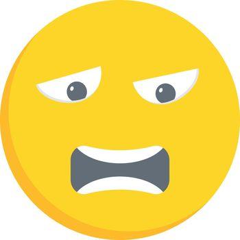 worried face