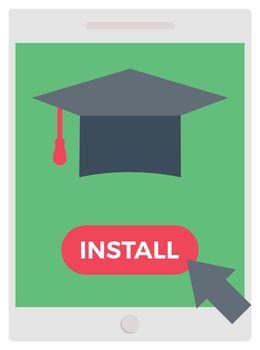 education vector colour flat icon