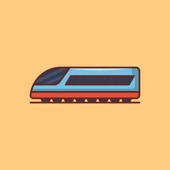 train vector line flat icon