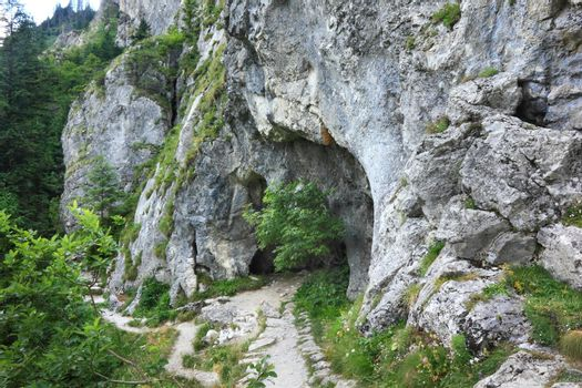 A cave called the Jaskinia Oblazkowa in Poland