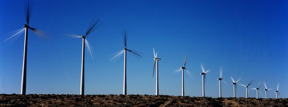 Photo of Spinning Wind Turbines