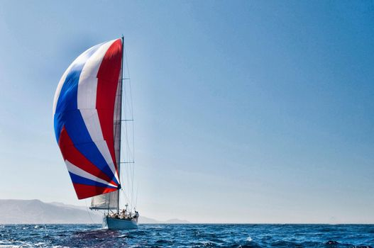 Photo of Sailboat in Sailing Race
