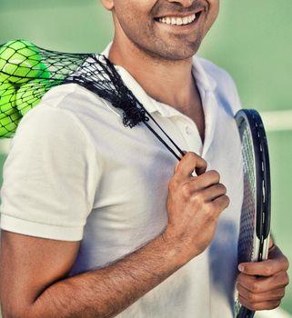 Close up shot of Tennis Player