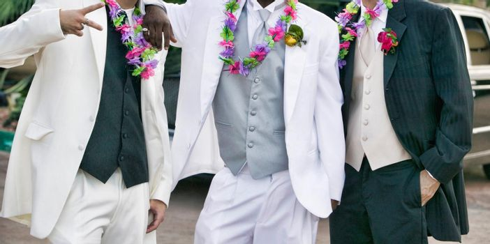 Cropped photo of Teenage Boys in prom