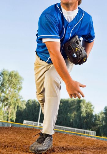 Portrait of Young Baseball Pitcher