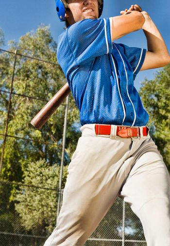 Portrait of Baseball Player at Bat