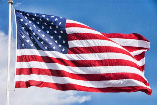 Close up shot of american flag