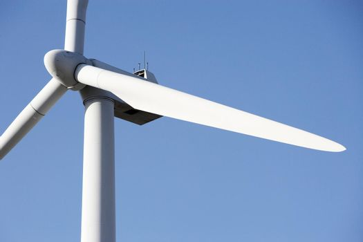 Close up shot of Wind Mill Rotor against the sky