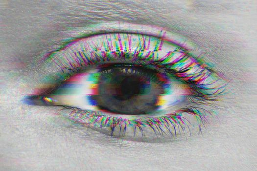 Close up shot of woman's eye