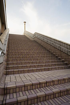 Brick staircase outside