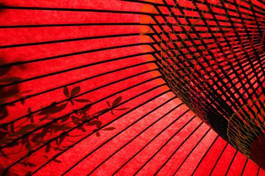 Red Japanese Parasol Umbrella