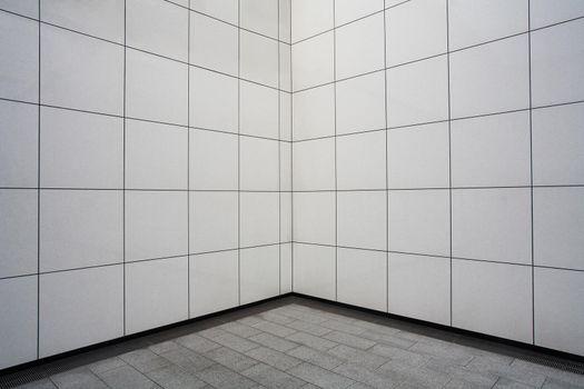 White tile wall in Metro station