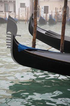 Italy Venice gondolas