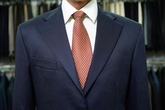 Business man  wearing suit in shop
