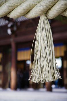 Tassel on Large Rope at Meiji Shrine