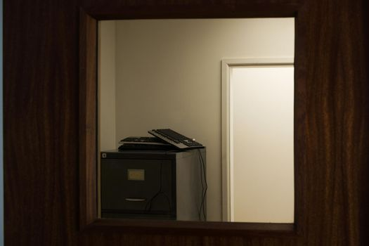 Office Corridor with filing cabinets