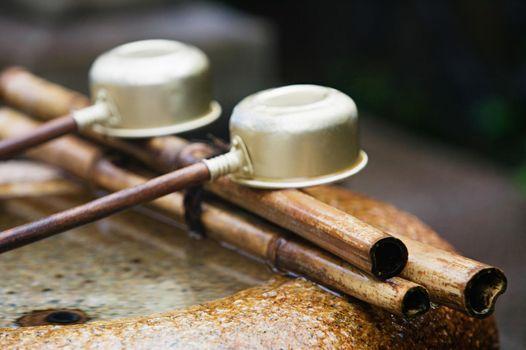 Row of Japanese ladles