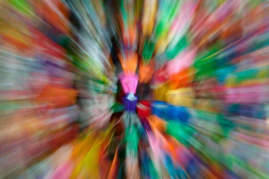 Colourful paper blurred