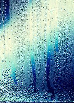 Rain Water on Glass