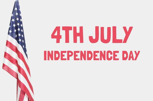 American flag with 4th July Independence Day