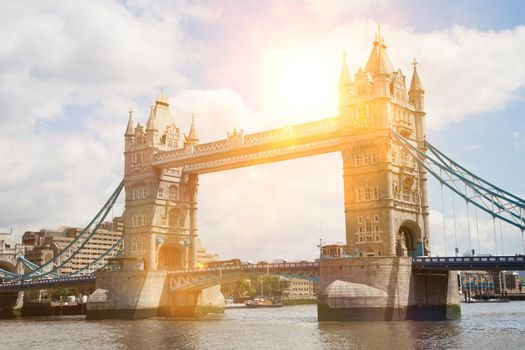 Tower Bridge with lens flare