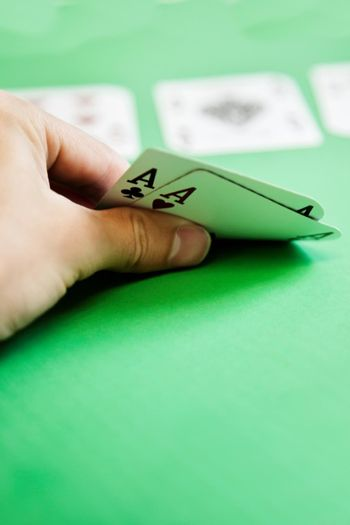 Pocket Aces in Poker Hand