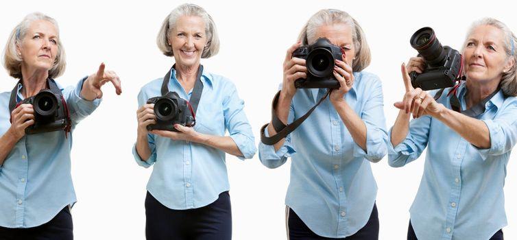 Collage of Senior photographer