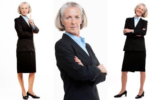 Collage of Senior Businesswoman