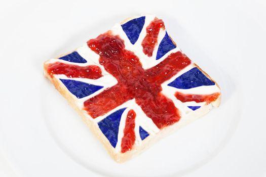 Union Jack Jam on Toast