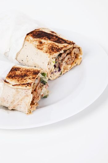 Chicken Wrap on plate