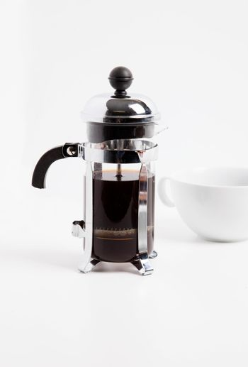 Cafetiere and cup